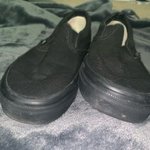 Black slip-on vans